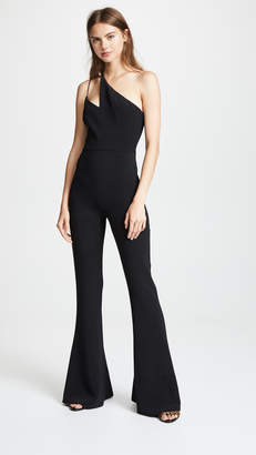 Cushnie et Ochs Flared Sleeveless Jumpsuit