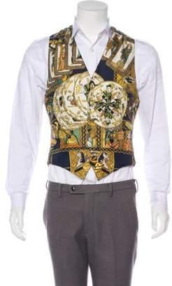 Hermà ̈s Silk Printed Suit Vest yellow Hermà ̈s Silk Printed Suit Vest