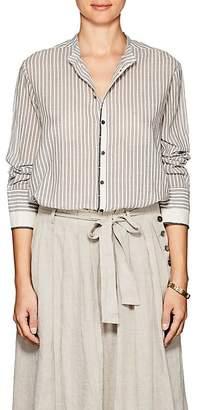 Pas De Calais Women's Striped Cotton Tunic Shirt