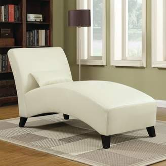 Wrought Studio Brennan Leather Chaise Lounge