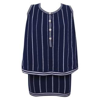 Chanel Navy Cashmere Tops