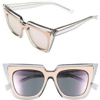 Women's Le Specs 'Edition One' 51Mm Sunglasses - Matte Blush/ Grey $125 thestylecure.com