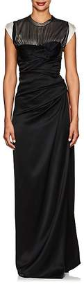 Alexander Wang Women's Side-Slit Silk Satin Gown