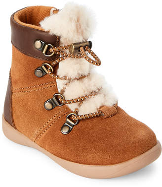 UGG Toddler) Ager Real Fur Winter Boots
