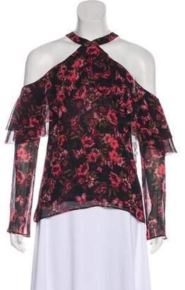 Ecru Silk Long Sleeve Top w/ Tags