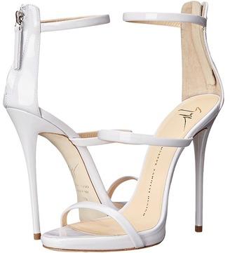 Giuseppe Zanotti High Heel Back-Zip Three-Strap Sandal $845 thestylecure.com