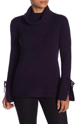 Sofia Cashmere Cashmere Flared Cuff Turtleneck Sweater