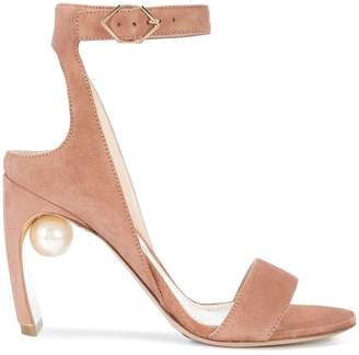 Nicholas Kirkwood 90mm Lola pearl strap sandals