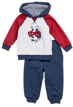 Infant Boy's Little Me Dog Hoodie & Jogger Pants Set $36 thestylecure.com