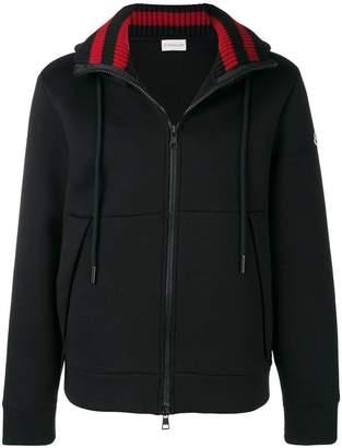 Moncler logo printed zip hoodie