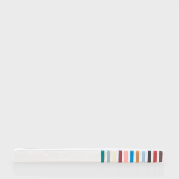 Paul Smith Men's Multi-Stripe Tie Clip