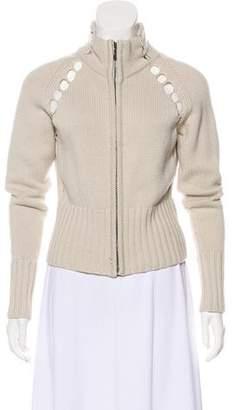 Saint Laurent Vintage Cashmere Zip-Up Sweater