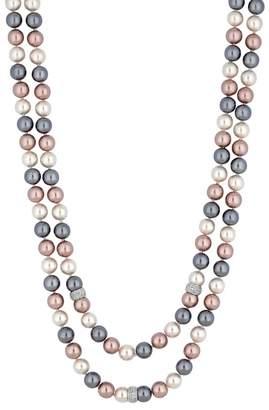 Jon Richard Women's Multi Tonal Pink/Grey Pearl Multi Row Necklace HR2iQpDTK