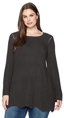 Junarose Women's Plus Size Three Quarter Sleeve Knit Pullover