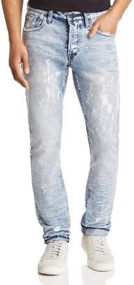 PRPS Goods & Co. LeSabre Slim Straight Fit Jeans in Bleach Spot Indigo