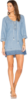 Michael Stars Denim Lace Up Dress $188 thestylecure.com