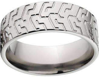 ONLINE Custom Men's Tire Tread 8mm Stainless Steel Wedding Band with Comfort Fit Design