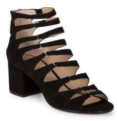 Pour La Victoire Amani Suede Block Heels