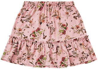 Jigsaw Girls' Flower Print Skirt, Blush