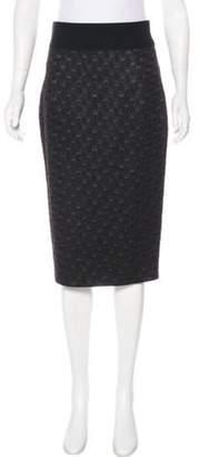 Marc Jacobs Matelassé Pencil Skirt Brown Matelassé Pencil Skirt