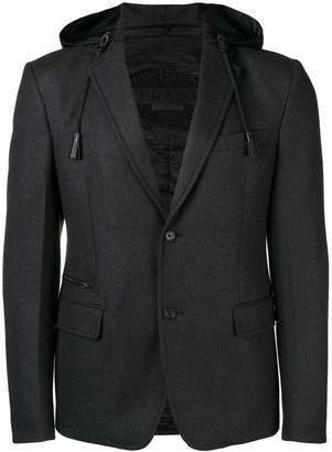 Prada hooded blazer
