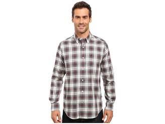 Nautica Long Sleeve Wrinkle Resistant Plaid Shirt Men's Long Sleeve Button Up