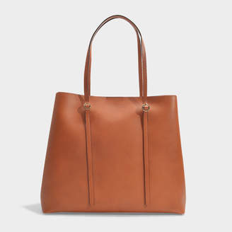 Polo Ralph Lauren Lennox Large Tote In Saddle Smooth Leather