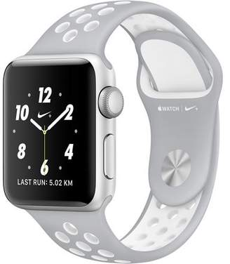 Apple Refurbished Watch Nike+ Series 2, 42mm Silver Aluminum Case with Pure Platinum / White Nike Sport Band