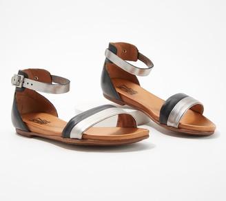 Miz Mooz Leather Ankle-Strap Sandals - Atlantic