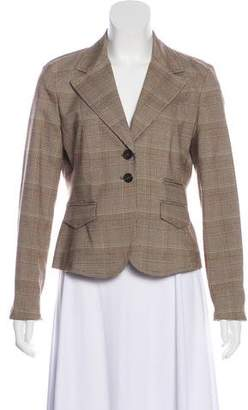 MICHAEL Michael Kors Plaid Notch-Lapel Blazer