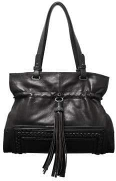 Sondra Roberts Squared Leather Shoulder Bag