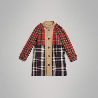 Burberry Tartan and Check Tropical Gabardine Coat