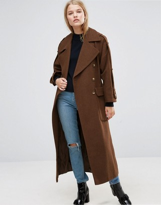 ASOS Wool Trench Coat with Epaulette Detail $166 thestylecure.com