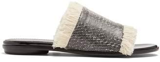 Proenza Schouler Frayed-edge woven slides