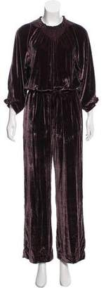Ulla Johnson Velvet Wide-Leg Jumpsuit