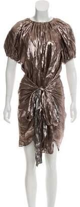 Ulla Johnson Silk-Blend Metallic Dress