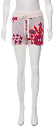 Baja East Cashmere Mid-Rise Knit Shorts