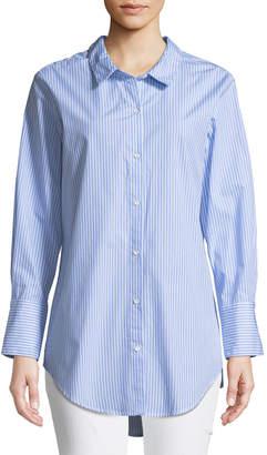 Kensie Loop-Back Oxford Tunic