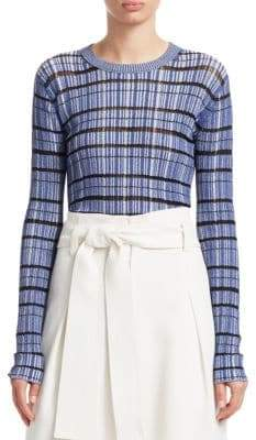 Proenza Schouler Striped Rib Knit Sweater