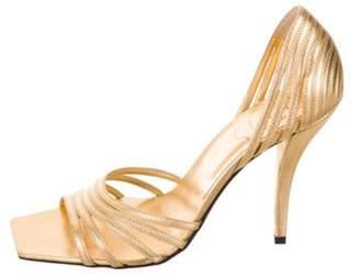 Roger Vivier Spuntata Metallic Sandals Gold Spuntata Metallic Sandals