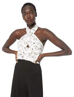 LIKELY Women's Norma Printed poplin crossfront top