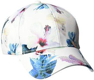 Collection XIIX Women's Tropical Floral Satin Baseball Cap $24 thestylecure.com