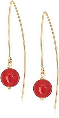 Marquis Gold Filled with Beads Dangle Earrings