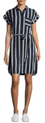 Dorothy Perkins Striped Button-Front Dress