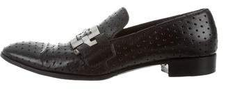 Gianni Barbato Leather Perforated Loafers