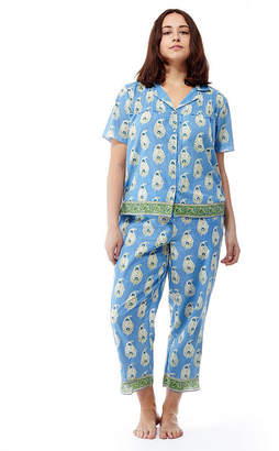 La Cera Plus-Size Short Sleeve Printed PJs - Plus