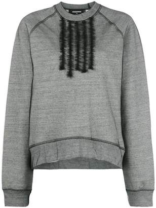 DSQUARED2 oversized tuxedo frill sweatshirt