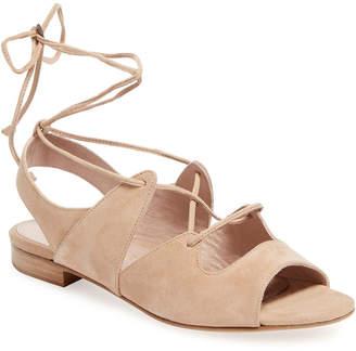 Aperlaï Sarah Suede Lace-Up Sandal
