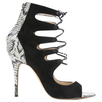 Monique Lhuillier Black Suede Heels