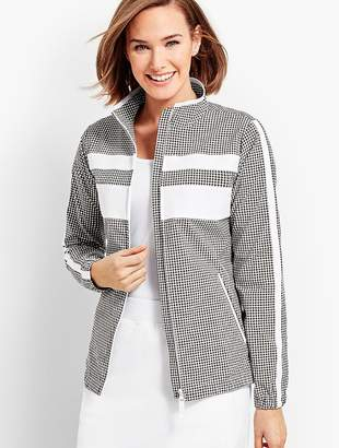 Talbots Gingham Woven Colorblock Jacket
